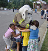 Sparky with Children