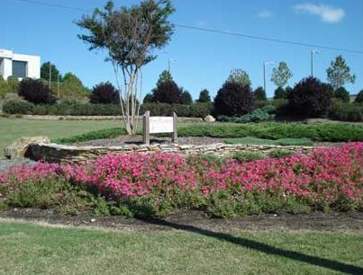 Interchange Garden in front of white building