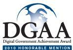 Digital Government Achievement Award: 2010 Honorable Mention