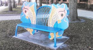 Jim Gallucci Koi Bench