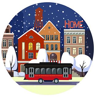 Snow Globe Ornament with trolley bus